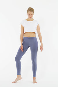"Yoga Leggings ""Blue"", langes Bein"