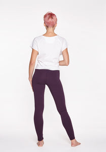 Yoga Leggings Plain Burgundy
