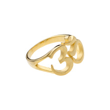 Laden Sie das Bild in den Galerie-Viewer, OM Symbol Ring, Gold