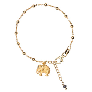 Yoga Power Armband LUCKY ELEPHANT, Gold