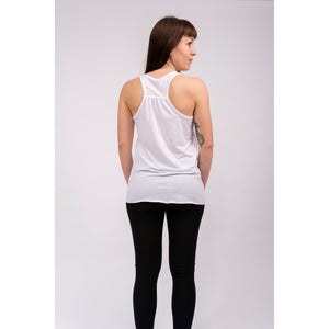 Yoga Tank Top FLOWER OF LIFE, Weiß