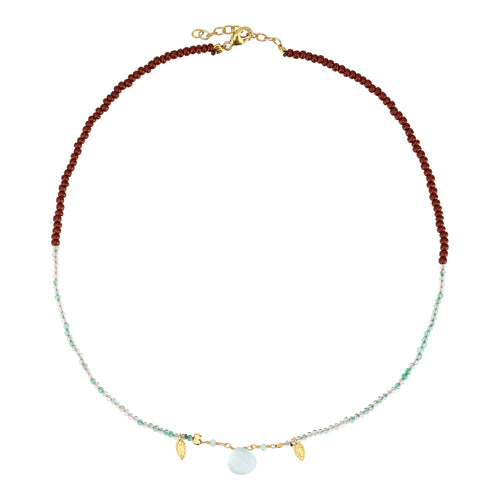 Yoga Halskette Choker REFLECT YOURSELF, Aqua