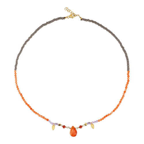 Yoga Halskette Choker REFLECT YOURSELF, Karneol