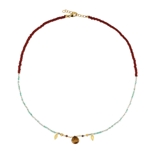 Yoga Halskette Choker REFLECT YOURSELF, Tigerauge