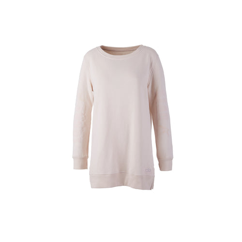 "Yoga Sweatshirt ""Lucky Star"" in Creme"