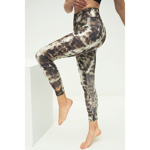 Yoga Leggings GANGA ANIMAL,Goldbraun 7/8