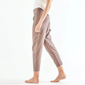 Yoga-Pants LOOSE, Taupe, GOTS