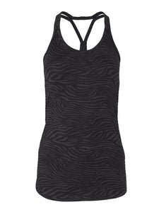 Yoga Tanktop RIA Animalprint, Anthrazit