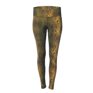 Yoga Shape Leggings Devi SNAKE, Oliv
