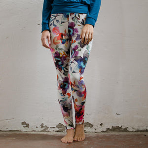 Yoga-Leggings GEESKE, florales Design