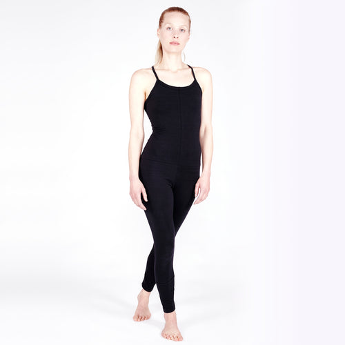 Yoga Jumpsuit CROSS, Schwarz