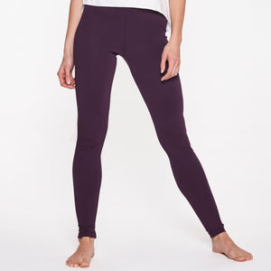 "Yoga Leggings lang, ""Burgundy"""