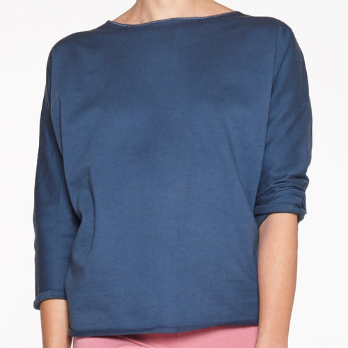 Yoga Damen Sweater INDIGO, Blau