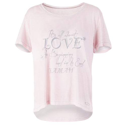 "Yoga T-Shirt ""Love"", Rosé"