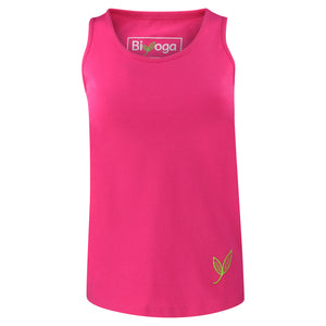 Yoga Tank Top Basic PINKY, GOTS