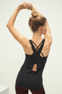 Yoga Tanktop WINGS, Anthrazit