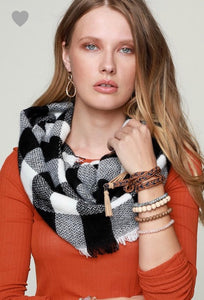 Buffalo Checkered Infinity Scarf