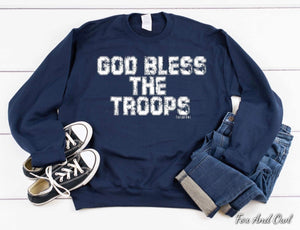 God Bless the Troops Sweatshirt