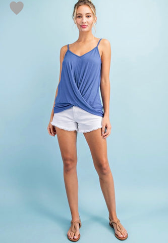 Camisole Knit tank top with front wrap