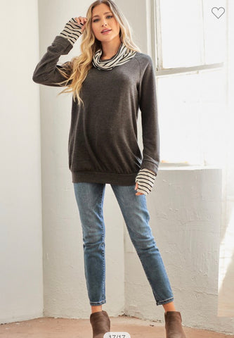 Brushed Hacci Knit Sweatshirt