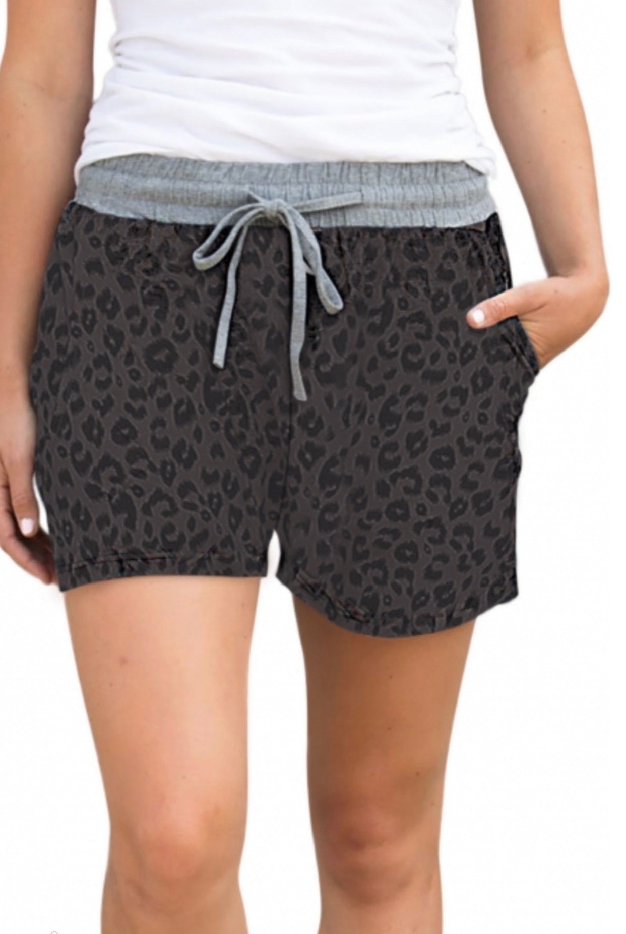 Black Leopard Lounge shorts