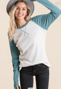 CUTE THERMAL BASEBALL TEE