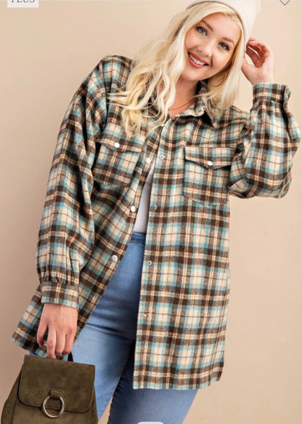 GORGEOUS TEAL/MIX FLANNEL