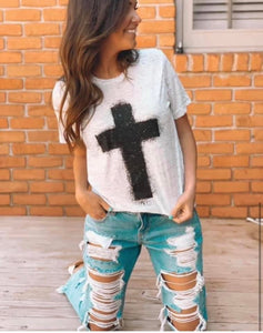 ❤️SPLATTER CROSS TEE❤️