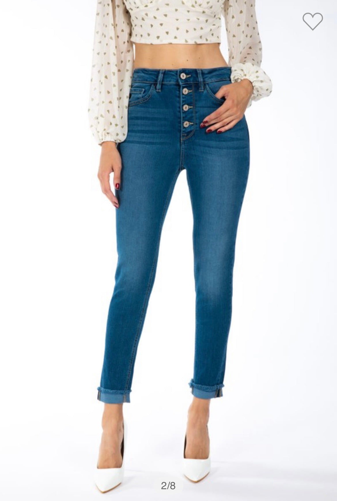 KanCan High Rise Button Fly Skinny Jeans