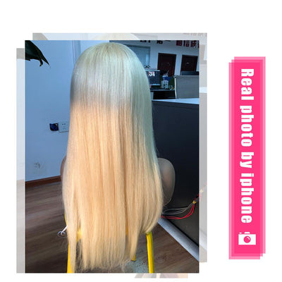 613 Blonde Brazilian Frontal Straight Human Hair Wig