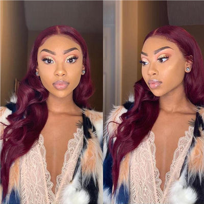 360 Lace Frontal Wig With Bangs Pre Plucked Baby HairBrazilian Lace Front Human Hair Wigs For Women