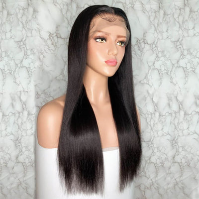 2019 New 140 Density 360 Lace Wigs Brazilian Straight Human Hair Wig