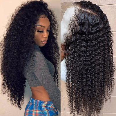 Brazilian curly lace positive hair wig, natural hairline