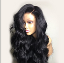 (OVER $48 FREE SHIPPING TODAY)--Transparent full lace wig with human hair wig wave wig Peruvian Remy hair
