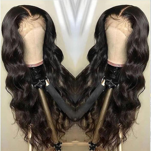 (OVER $48 Free Shipping Today)--Brazilian Body Wave Wig Pre Plucked Lace Wig Remy Hair Wig Lady Wig