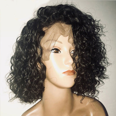 Short Human Hair Bob Wigs Brazilian Curly Lace Front Wigs