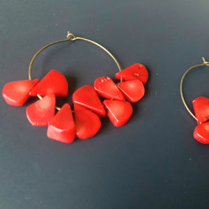 Maggie's Inner Strength // Red Coral Hoop Earrings