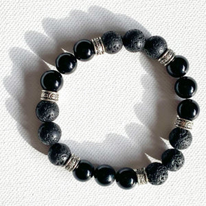The Alligator // Lava & Onyx Aromatherapy Bracelet