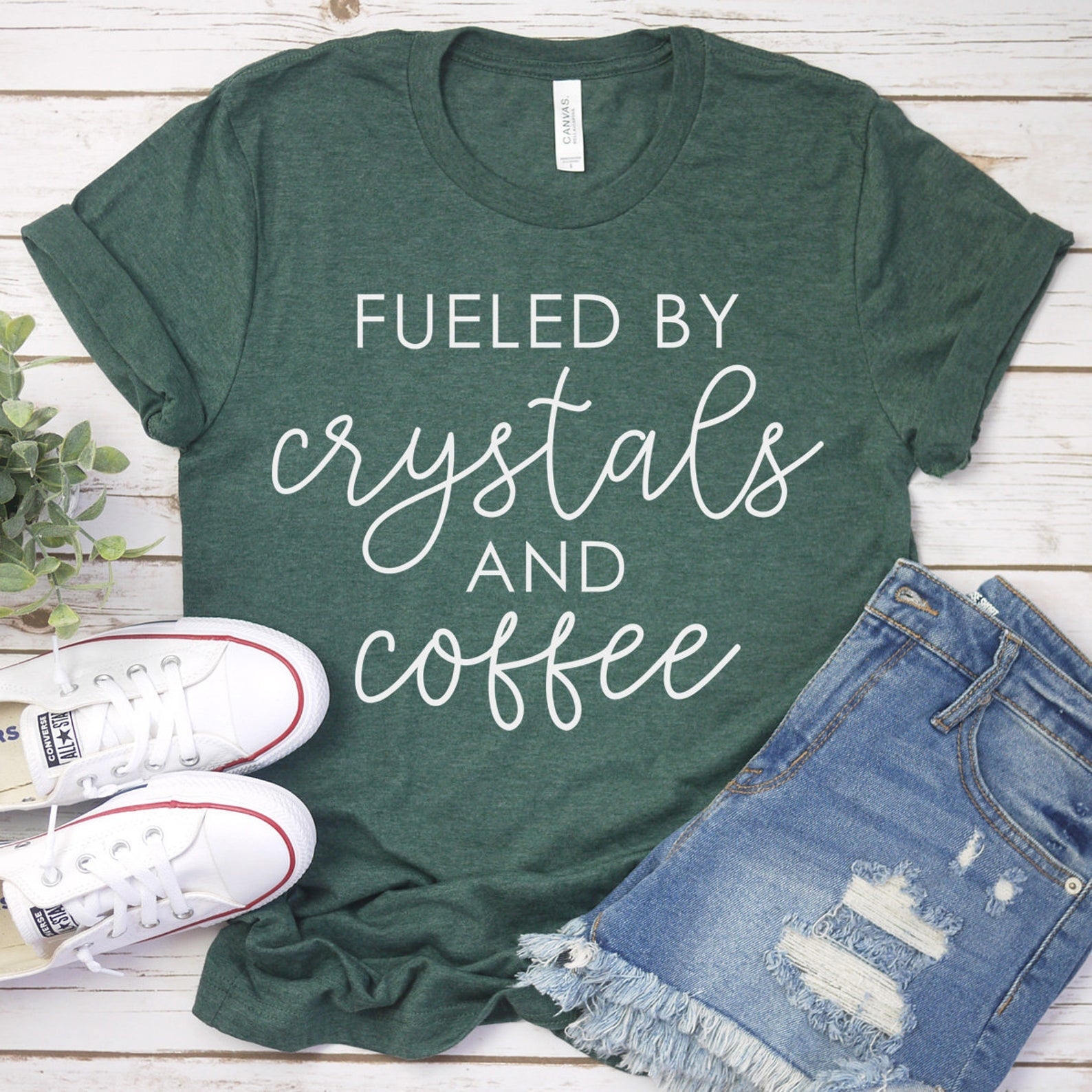 Crystals & Coffee T-shirt