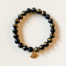 Load image into Gallery viewer, 3rd Eye // Gold Foil Jasper Bracelet