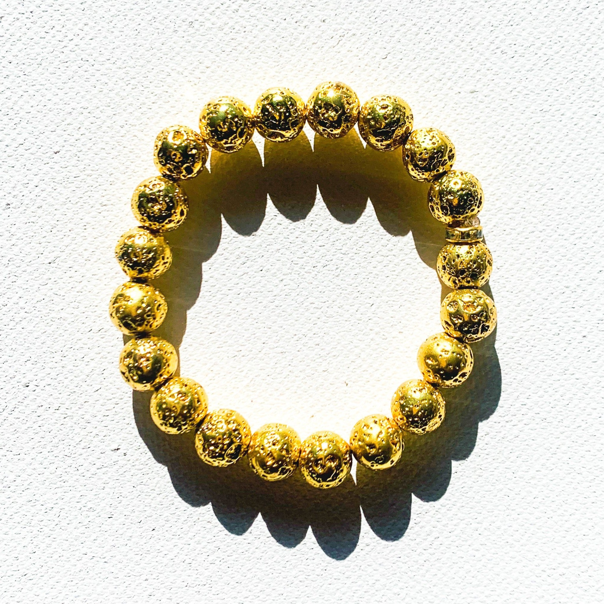 Courage // Gold Lava Bead