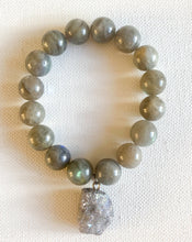 Load image into Gallery viewer, Labradorite Charm Bracelet