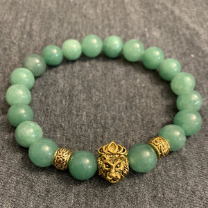 He's Royal 3 // Aventurine & Gold Plated Bracelet