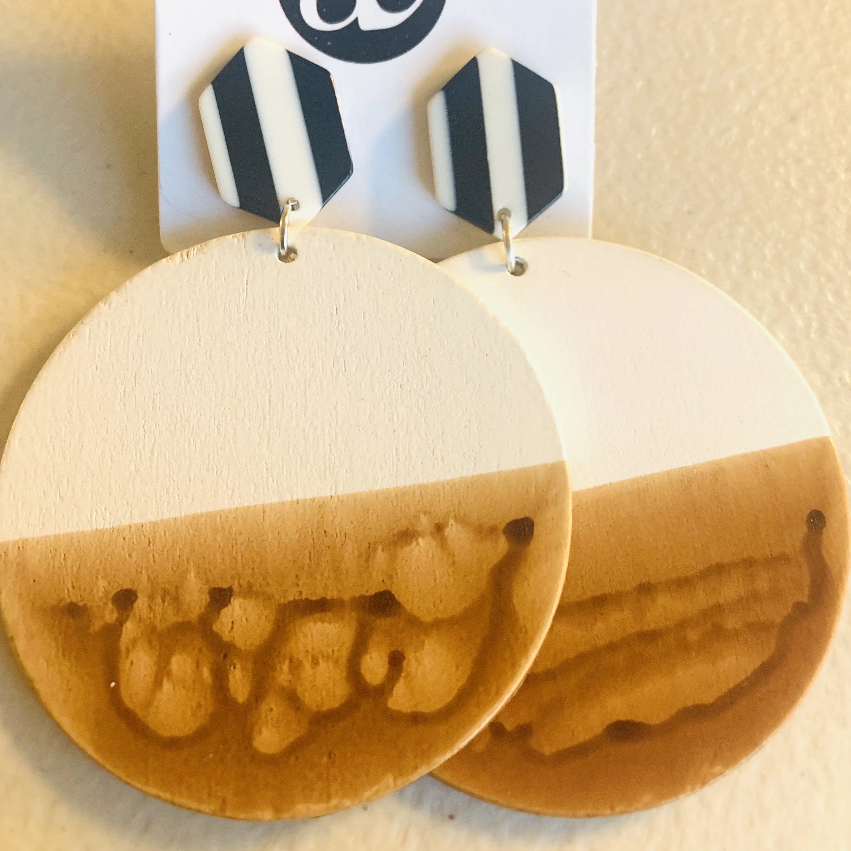 Business & Pleasure // Acrylic + Wood Earrings
