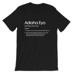 Load image into Gallery viewer, Black Adiaha Eyo Definition T-shirt