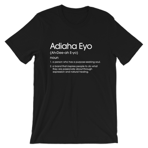 Black Adiaha Eyo Definition T-shirt