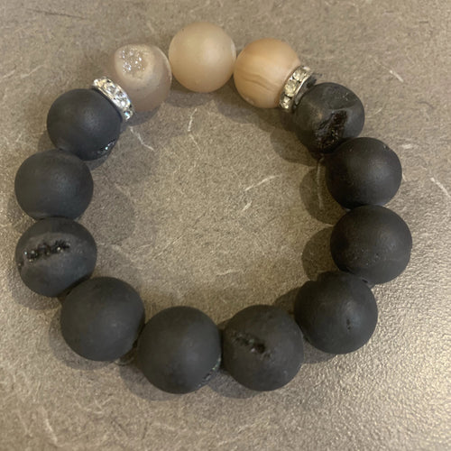 Black and Neutral Druzy