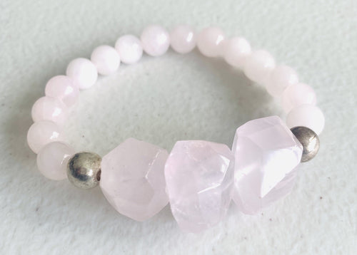 In Love // Rose Quartz Bracelet