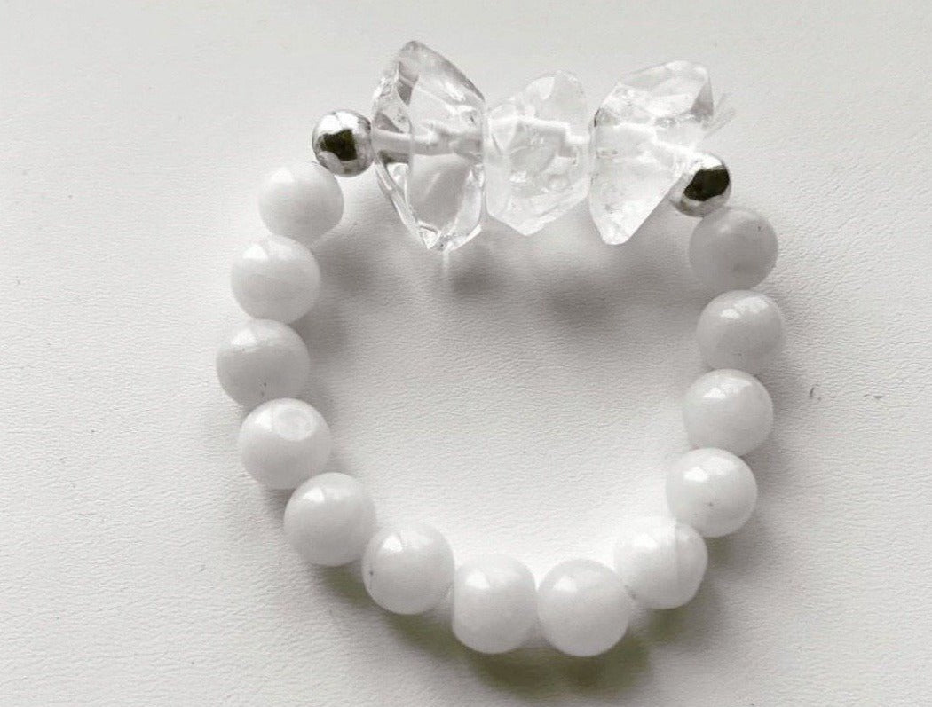 Adiaha's Signature // Clear Quartz + Moonstone Bracelet