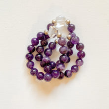 Load image into Gallery viewer, Go Set Go // Amethyst & Clear Quartz Bracelet